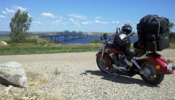 Ready to Cross Missouri River near Forest City South Dakota